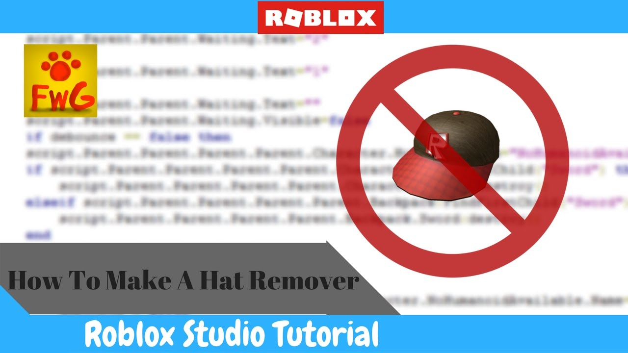How To Make A Hat Remover In Roblox Studio 2017 Youtube