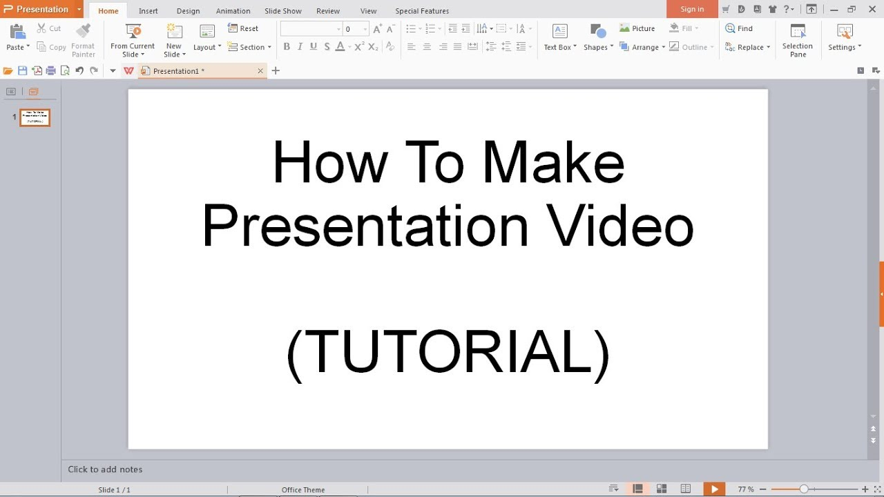 how to make presentation video using powerpoint