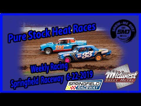 S03-E306 Pure Stock Heat Races - Springfield Raceway 6-22-2019 #DirtTrackRacing