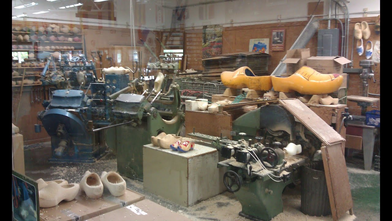 making wooden shoes in holland michigan youtube