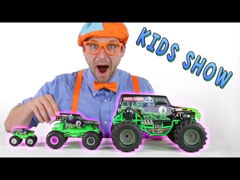 Thumbnail: Monster Truck Toys for Kids - learn Shapes of the trucks while jumping and hiking
