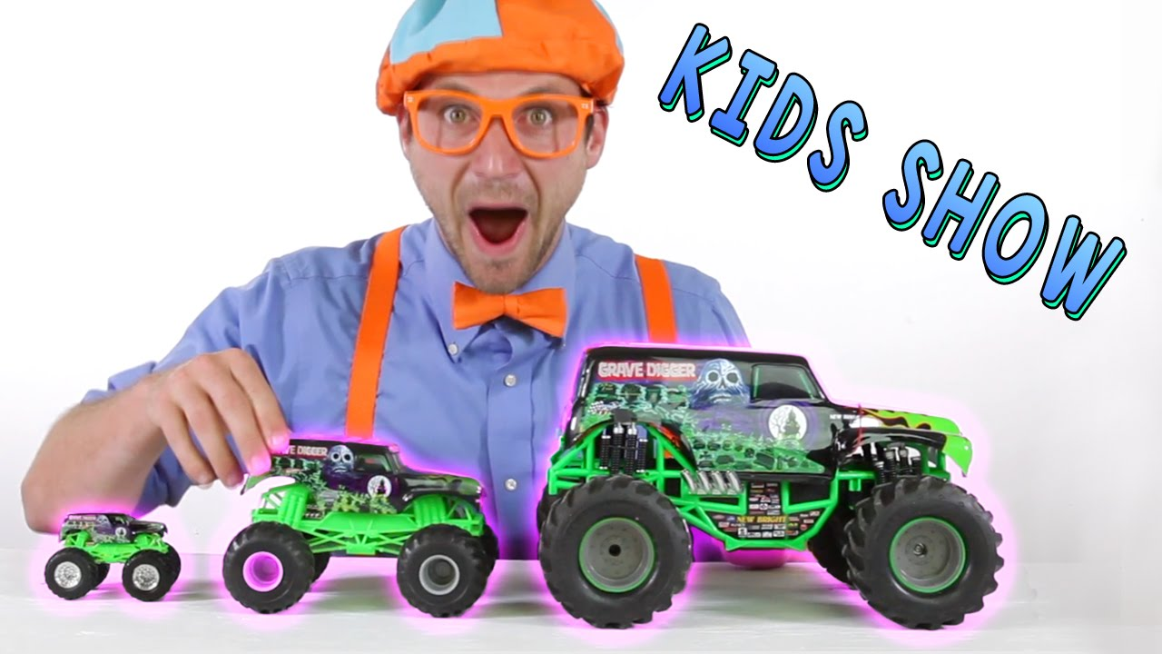 Monster Truck Toys For Kids Learn Shapes Of The Trucks While