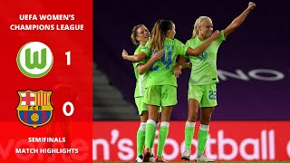 Uefa women's champions league semifinals: vfl wolfsburg vs barcelona 1-0, full match highlights ✅please like, subscribe, and turn on notifications for more w...