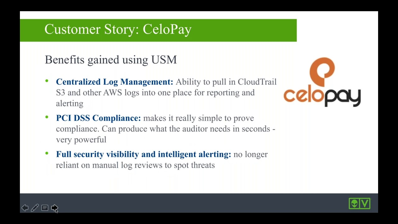 Why CeloPay Selected AlienVault USM to Protect Their AWS Environment