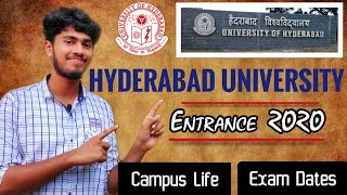 Hyderabad University Entrance Exam 2020 ( Expected Details ) | Hyderabad central university | UET