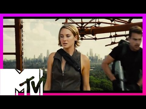 Allegiant Wall Repel Scene - BEHIND THE SCENES With Cast | MTV Movies