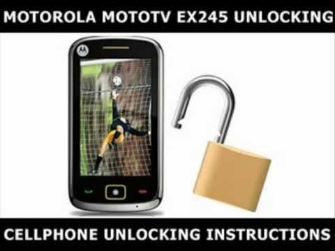 How to Unlock Any Motorola MotoTV EX245 Using an Unlock Code