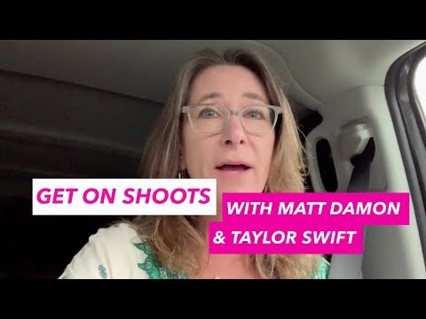 Get on Shoots with Matt Damon and Taylor Swift!
