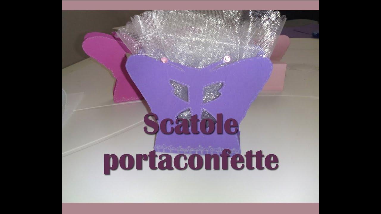 Popolare Come fare scatolina porta-confette a forma di farfalla (how to  JX71