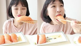 대왕 연어초밥 먹방 _ 대만의 유명 연어초밥을 만들어보아요. 왜냐면 먹고싶으니까 :D