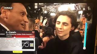 Timothée Chalamet French Interview at the Golden Globes