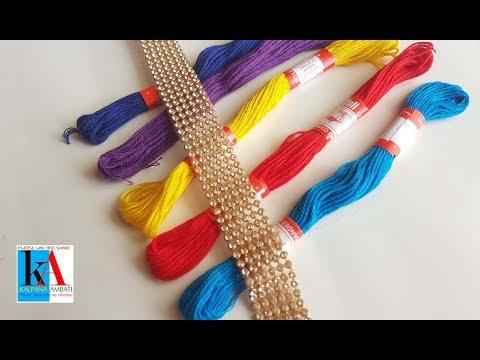 How to make beautiful silk thread Tassel Earrings at home || DIY Trendy Tassel Earrings