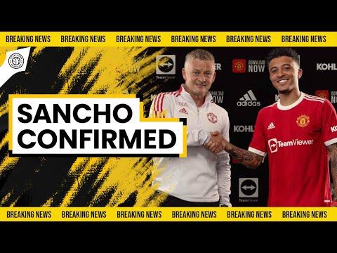 JADON SANCHO SIGNS FOR MAN UTD! | Official Transfer News