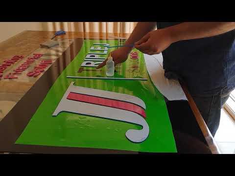 Lobby signage 3mm  acrylic