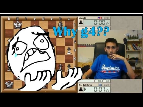 WHY g4? | Blitz Chess #11: chess24 vs. Tal (Vienna)- ICC 5-minute pool