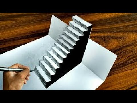 3 Boyutlu Basamakli Merdiven Cizimi How To Draw Easy 3d Steps