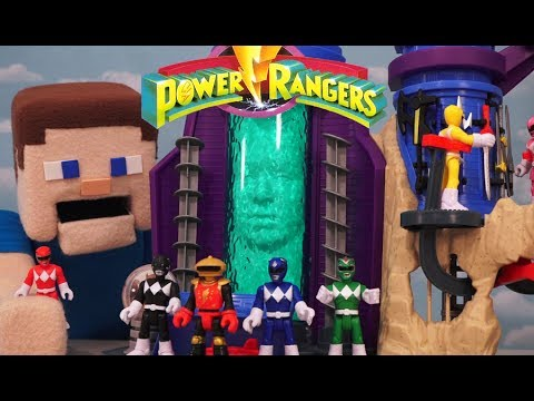 Power Rangers Fisher-Price Imaginext Command Center Playset Mighty Morphin Action Figures Unboxing