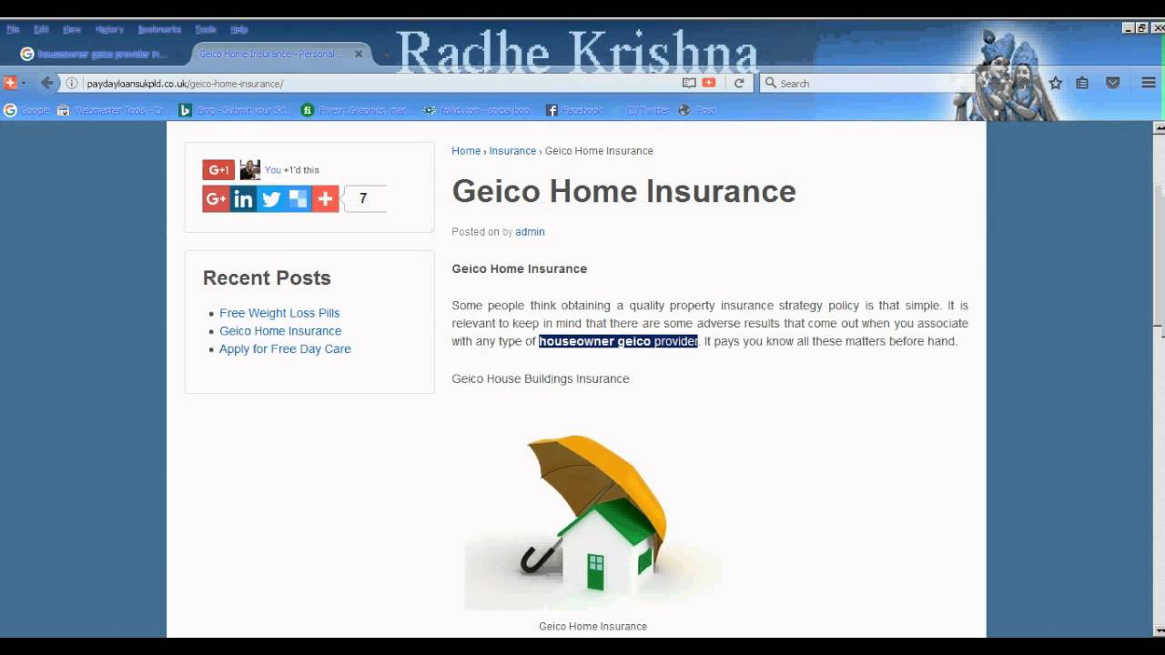 Geico Home Insurance Quote Houseowner Geico Provider Insurance Quotes  Youtube