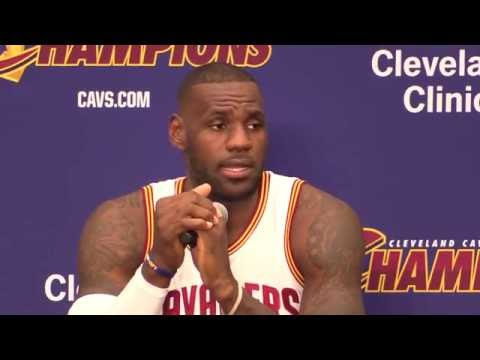 LeBron James will stand for national anthem - Cleveland Cavaliers Media Day 2016