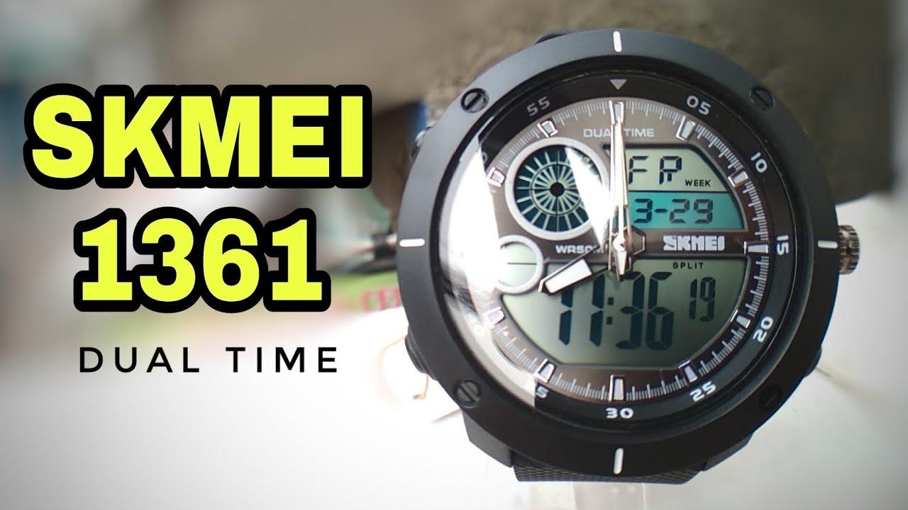 Skmei 1361 Dual Time Review Setup Indonesia Youtube Jam Tangan Pria Watch 9106 Original Water Resistant Black Red