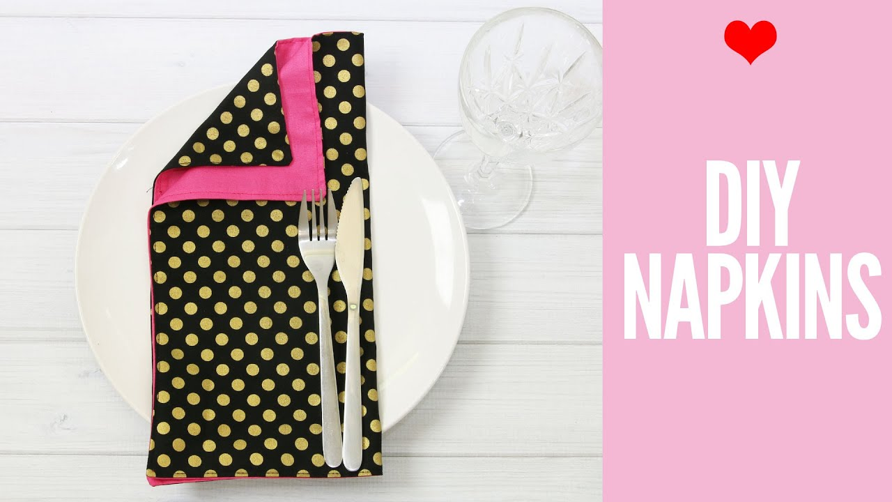 How to Make Napkins, DIY cloth napkins sure to IMPRESS! - YouTube