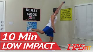 10 Min Low Impact Aerobic Workout - HASfit Cardio Exercises - Cardiovascular Exercise Workouts