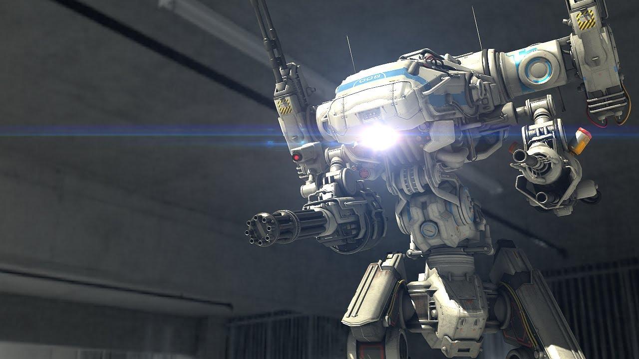 Anime Fighting Wallpaper Police Robot Enforcer Scifi Short Film Youtube