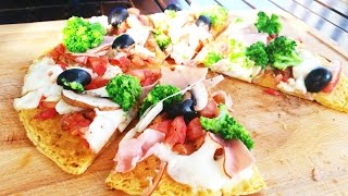 Pizza recipe - How to make a healthy pizza with chickpeas flour