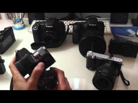 The new Sony A7Rii side by side with Sony RX1R, Fuji X100T, Canon 6D 7D, NX3000, Ricoh GR