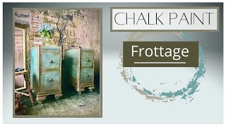 How to create chalk paint texture using Frottage Technique with Annie Sloan's Chalk Paint.