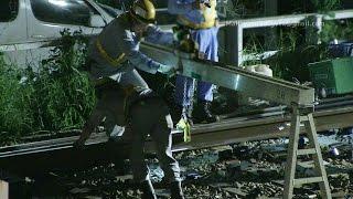 【鉄道】 レール交換 終電から作業終了まで 【深夜の保線作業】 Rail replacement