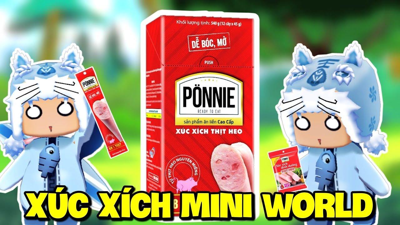 Xúc Xich Ponnie nhưng phiên bản trong Mini World | Meowpeo