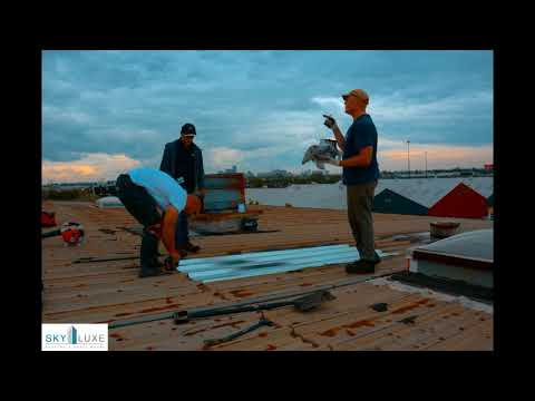 Replacing Metal Panels on Industrial Metal Roof - Etobicoke Commercial Roofing