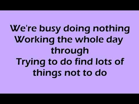 Busy Doing Nothing Song with Lyrics Sung by Bing Crosby, William Bendix & Cedric Hardwicke
