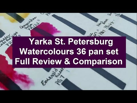 Yarka St. Petersburg Watercolours Review and Comparison