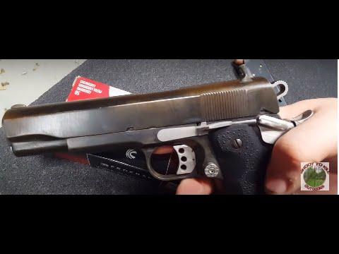 1911 .45acp E-Sarco G.I. kit/Caspian Frame Target Practice - YouTube