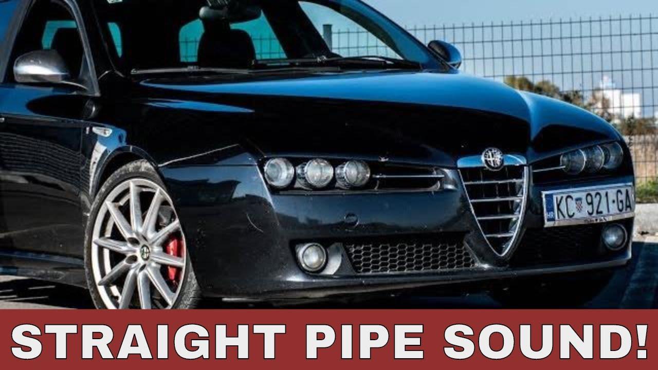 Alfa Romeo 159 2 4 JTDM TI Sound, Acceleration, Straight Pipe, DPF delete
