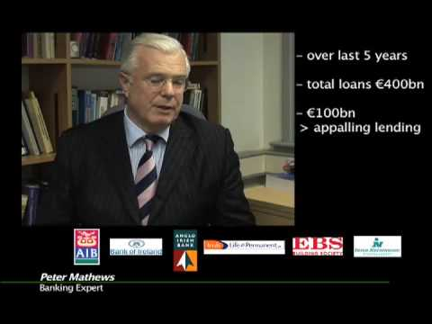 1. Independent Irish Banker explains Ireland's banking crisis - Part 1