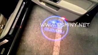 Светодиодная подсветка с логотипом в двери SUBARU