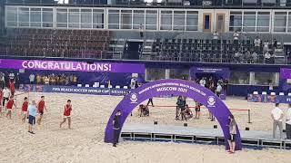 Церемония награждения Пляжный футбол межконтинентальный кубок женщины Лужники 15 08 2021
