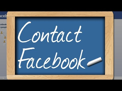 How to contact face book
