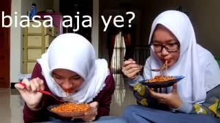 samyang challenge eh lebih tepatnya makan samyang with ma bestie indonesia