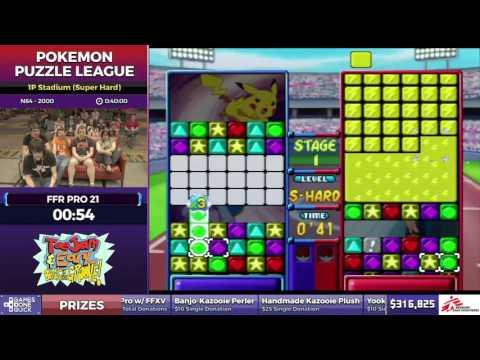 Pokemon Puzzle League by FFR Pro 21 in 32:29 - SGDQ2017 - Part 47
