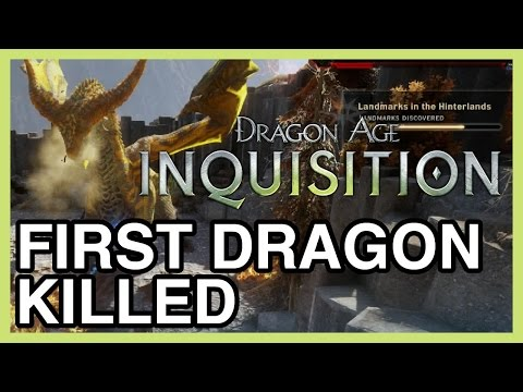 1ST DRAGON KILLED!!!!! - Dragon Age Inquisition Gameplay