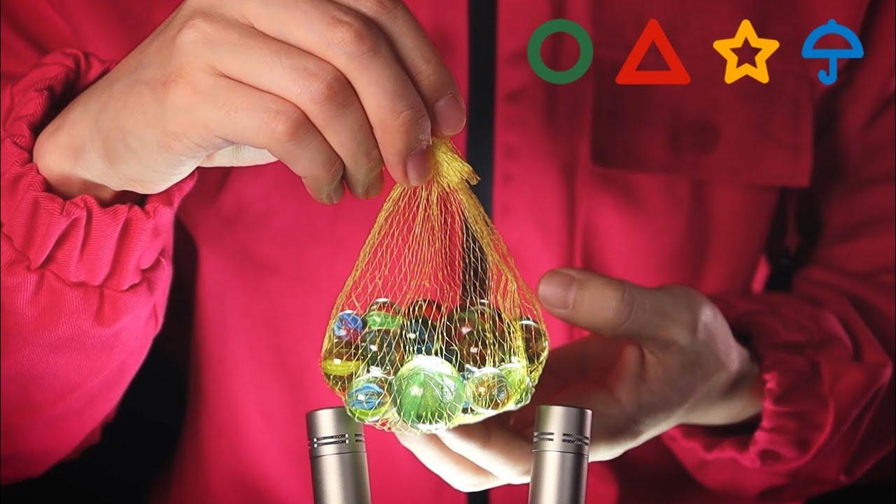 ASMR Squid Game Extremely Relaxing Triggers  《오징어게임 ASMR》 전세계에 퍼지는 한국 전통놀이의 소리를 들어보자
