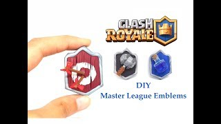 DIY Clash Royale Master League Emblems - Polymer clay tutorial
