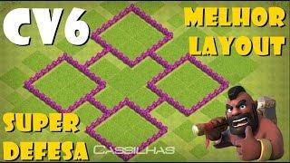 Clash of Clans #35 | O melhor LAYOUT CV6 que já usei | Layout anti PT? | Campeão de defesas [PT-BR]