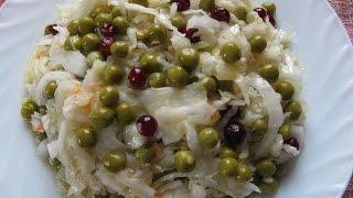 Салат из маринованной капусты/Cabbage salad
