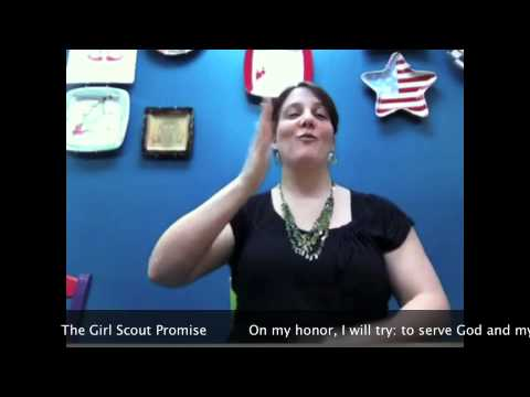 Girl Scout Promise - In ASL - YouTube