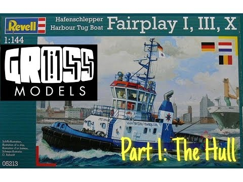 Revell 1:144 Fairplay Tug. Part 1: The Hull